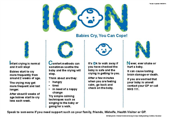 ICON poster babies cry you can cope